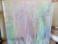 Stained Glass, Clear White Wispy Iridescent, Spectrum SHEET