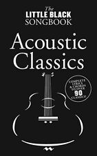 Little Black Songbook Acoustic Classics Play Piano Guitar Lyrics Music Book