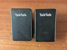 2x TalkTalk Huawei Powerline Adapters PT200AV Ethernet Virgin BT Sky HomePlug
