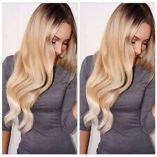 Wigs Blonde Ombre Black Wave Hair Synthetic Fiber Full Wigs Lady Fashion Cosplay