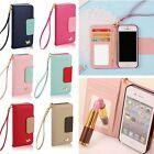 Flip Card Mirror Wallet Leather Phone Case Cover For Apple iPhone 4S 5S 6S 6Plus