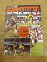 08/10/1974 Southampton v Derby County [Football League Cup] (Team Changes). Than