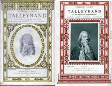 C1 NAPOLEON Frederic Lolie TALLEYRAND COMPLET des 2 Tomes 1910 1927