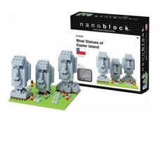 Nanoblock Micro-sized Building Block Set Moai Statues Easter Island Chile