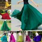 Sexy Lady Women Summer Elastic Waist Band Skirts Casual Beach Chiffon Maxi Dress
