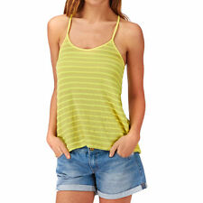 Roxy Twin Lakes Tank Top Womens S Limeade ARJKT03087 Yellow Shirt Cotton Knit