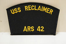 USS Reclaimer ARS 42 patches USN USA Navy NEW