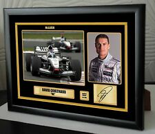 David Coulthard F1 McLaren Framed Canvas Print Signed Limited Edition.