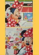 MINNIE MOUSE SHOPPING WALL ART CANVAS PRINT SET OF 2 READY TO HANG GIFT IDEA