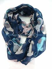 US SELLER , women gifts  elephant animals circle loop infinity scarf
