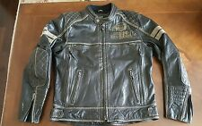 Harley Davidson Men's EXCAM Warrior Buffalo Leather Jacket Large 97031-15VM