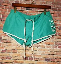 Victorias Secret Pink Love  Swim Beach Shorts Teal Green Size Medium Board Surf