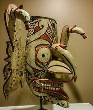 GENUINE WORN dayak hudoq mask from borneo indonesia, tribal mask