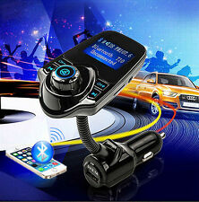 "Car 1.44"" LCD Wireless FM Transmitter USB Charger Handsfree Bluetooth MP3 Player"