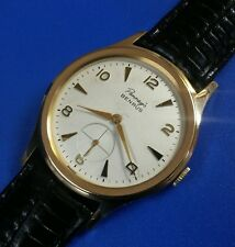 Exquisite 1960s Vintage Mans Benrus Hand Wind Stunning Silver Dial Just Serviced