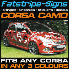 VAUXHALL CORSA VXR CAR CAMO KIT VINYL GRAPHICS STICKERS DECALS BONNET ROOF SXI