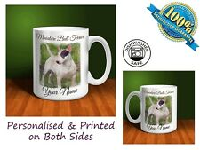 Miniature Bull Terrier Personalised Ceramic Mug: Perfect Gift. (D016)