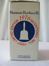 Vintage Collectable Norman Rockwell Limited Edition 1976 Bicentennial  Bell