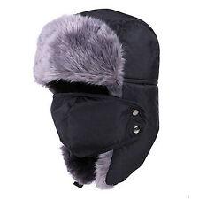 NEW Unisex Aviator Bomber Winter Warm Ski Trooper Trapper Earflap Hat Fleece Cap