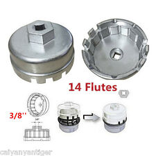 "Oil Filter Wrench Cap Housing Tool Remover 3/8"" 14 Flutes For TOYOTA Universal"