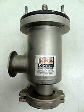 MKS HPS KF-40 NW40 STAINLESS RIGHT ANGLE MANUAL HIGH VACUUM VALVE 151-0040K