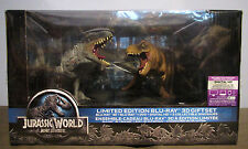 JURASSIC WORLD 3D Limited Edition Gift Set Blu-ray + DVD + Dinosaur Collectibles