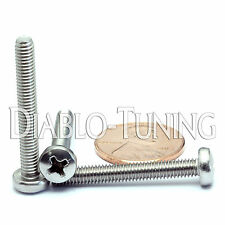 M4 x 30mm - Qty 10 - Stainless Steel Phillips Pan Head Machine Screws DIN 7985 A