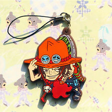 One Piece Pirate Portgas D Ace PVC Detailed Figure Cell Phone Chain Strap Charm