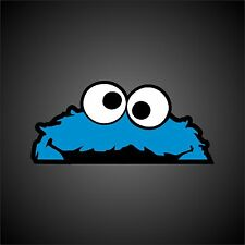 PEEPING COOKIE MONSTER STICKER   DECAL  EURO  DUB  JDM  RAT LOOK