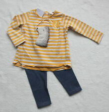 ***BNWT Next baby girl Hedgehog 3D tunic top and leggings set 6-9 months***