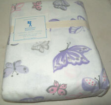 Pottery Barn Kids Purple Pink Butterfly Flannel Cotton Twin Duvet Cover New