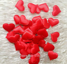 100 Red Girls Heart Shaped Fabric Petal Wedding Supplies Table Bed decor Basket