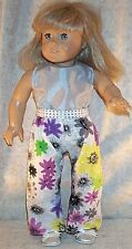 "Doll Clothes fits American Girl 18"" inch Pant Set Spring Line 2014 Yellow Silver"