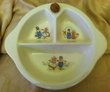 Excello Antique  1943 Baby Food Warming Dish With Cork Plug Dutch Children