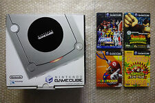 "Console Game Cube Silver + 3 Games Set ""Very Good Condition"" Nintendo Japan"