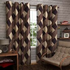 SA Premium Brown Box 7Ft Door Curtains-Set of 2