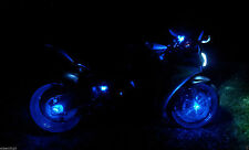 2 Blue LED Motorcycle Accent Under Body Glow Street Bike Light Break Reservoir a