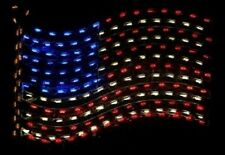 American Flag Patriotic Holiday Outdoor LED Lighted Decoration Steel Wireframe