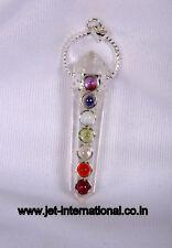 Quartz Crystal Double Point 7 Chakra Pendant Healing Chakra Balancing Peace