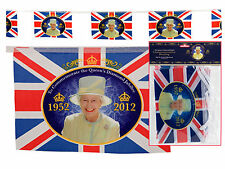 200 FEET Queens Diamond Jubilee Union Jack Bunting 120 Flags 60 meters long