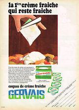 PUBLICITE ADVERTISING  1968   GERVAIS   coques de creme fraiche