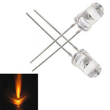 Imported 100PCS 5mm Round Yellow Water Clear LED Light Diodes Kit