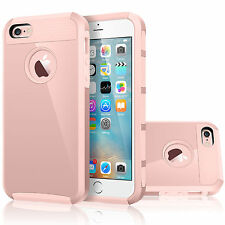 Hybrid Rubber Hard Shockproof Case Cover Skin for Apple iPhone 5C-Rose Gold