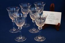 St. Louis French crystal Tommy pattern 6 sherry glasses set 5 1/2