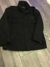 Men's Black French Connection Wool Blend Coat Size L