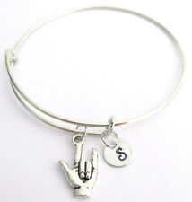I love you Bracelet,ASL Jewelry,I love You Sign Language ASL Expandable Bangle,