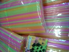 450 PARTY Drinking STRAWS Bendable Flexible Plastic Bendy Straw Neon Color HR012