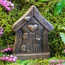 Fairy Door Love Heart  Garden Faeries Elfs Pixies In/outdoor Bronze Finish
