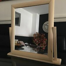 WOODEN DRESSING TABLE MIRROR TABLE TOP DRESSING RORATING VANITY MIRROR 35X32CM