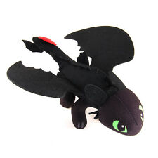 "New 10""  How To Train Your Dragon TOOTHLESS Lying Night Fury Plush Toy Soft Doll"
